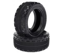 Schumacher Cactus Fusion 1/10 - 4WD Front Tyres - Yellow (1 pair)