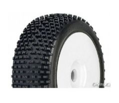 Pro-Line White Pre-Mounted Bow Tie M2 1/8 Buggy Tires (2)