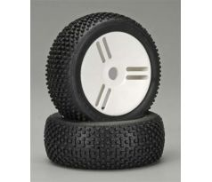 GRP White Pre-Mounted Atomic A 1/8 Buggy Tires (2) GMW05A