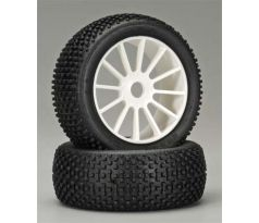 GRP White Pre-Mounted Atomic 1/8 Buggy Tires (2)