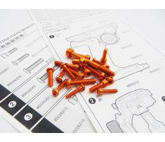 Hiro Seiko M17 Light Weight Screw Set (Orange)